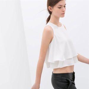 Zara Trafaluc Collection White Sleeveless Top
